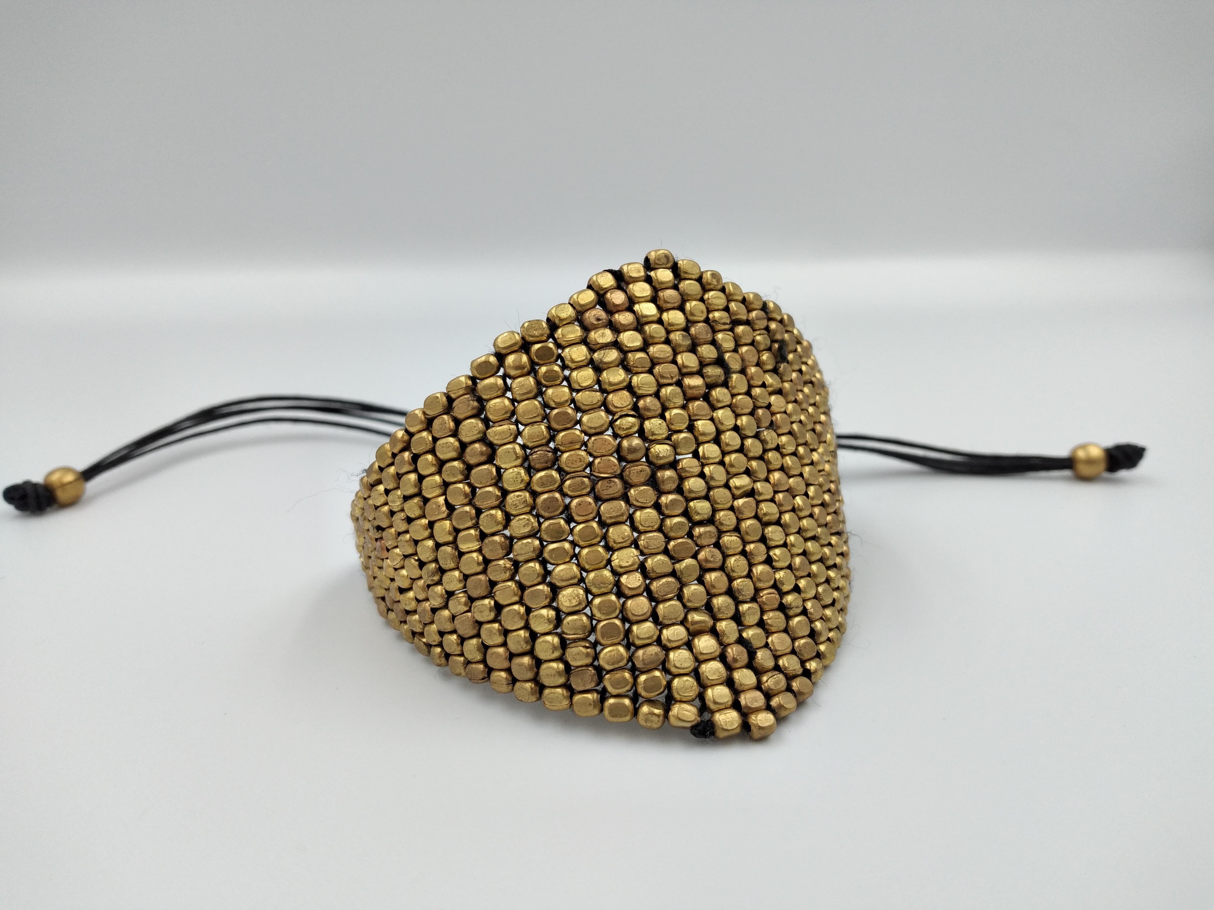 Βραχιόλι χειροποίητο χρυσό με χάντρες
