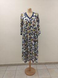 Χειροποίητο βαμβακερό φόρεμα με εμπριμέ φλοράλ
