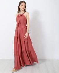 Μάξι φόρεμα αμάνικο - Σάπιο μήλο